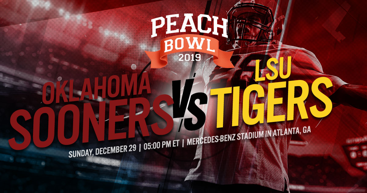 2019 College Football Semifinal (Chick-Fil-A Peach Bowl): #4 Oklahoma Sooners vs. #1 LSU Tigers